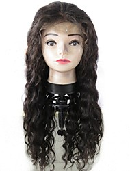 cheap -Virgin Human Hair Human Hair Glueless Lace Front Lace Front Wig style Peruvian Hair Wavy Water Wave Wig 130% Density with Baby Hair Natural Hairline 100% Virgin Unprocessed Women's Medium Length Long