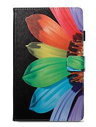 Недорогие -Кейс для Назначение Amazon Kindle Fire hd 8(7th Generation, 2017 Release) / Kindle Fire hd 8(6th Generation, 2016 Release) Кошелек / Бумажник для карт / со стендом Чехол Цветы Твердый Кожа PU