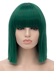 cheap -Synthetic Wig Cosplay Wig Straight Straight Wig Short Green Synthetic Hair Women's Green