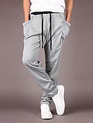 cheap -Men's Simple Cotton Skinny Harem Pants - Solid Colored