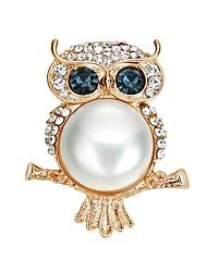 cheap -Women's Cubic Zirconia Brooches Ladies Sports & Outdoors Imitation Pearl Zircon Brooch Jewelry Gold For Party Prom Promise