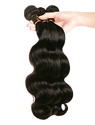 Недорогие -3 Связки Бразильские волосы Свободные волны Натуральные волосы 150 g Человека ткет Волосы Ткет человеческих волос Расширения человеческих волос / 8A