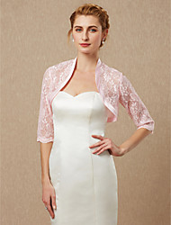 cheap -Half Sleeve Shrugs Lace Wedding / Party / Evening Women's Wrap With Lace