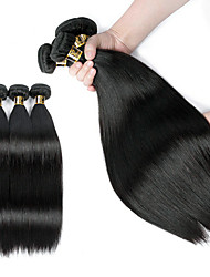 cheap -3 Bundles Brazilian Hair Straight Human Hair Natural Color Hair Weaves / Hair Bulk Sleep mask Hip & Waist Support 8-28 inch Human Hair Weaves Human Hair Extensions / 8A