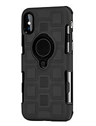 cheap -Case For Apple iPhone 8 Plus / iPhone 8 Shockproof / Ring Holder Back Cover Solid Colored Hard PC
