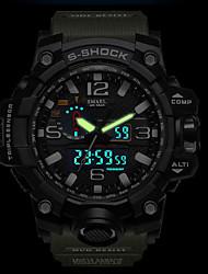 cheap -SMAEL Men's Sport Watch Military Watch Digital Watch Japanese Silicone Black / Red / Orange 50 m Water Resistant / Waterproof Calendar / date / day Chronograph Analog - Digital Casual Fashion - Dark