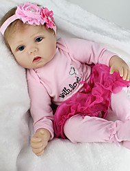 cheap -NPKCOLLECTION NPK DOLL Reborn Doll Girl Doll Baby Girl Reborn Baby Doll 22 inch Silicone Vinyl - lifelike Cute Hand Made Child Safe Non Toxic Lovely Kid's Girls' Toy Gift / Parent-Child Interaction