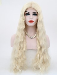 cheap -Synthetic Lace Front Wig Natural Wave Natural Wave Lace Front Wig Blonde 70 Light Blonde Synthetic Hair Blonde
