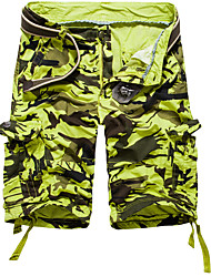cheap -Men's Plus Size Loose Chinos Pants - Camouflage