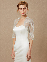 cheap -Half Sleeve Shrugs Lace Wedding / Party / Evening Women's Wrap With Beading / Lace