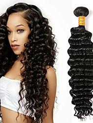 cheap -1 Bundle Peruvian Hair Deep Wave Human Hair Natural Color Hair Weaves Human Hair Weaves Human Hair Extensions Women's