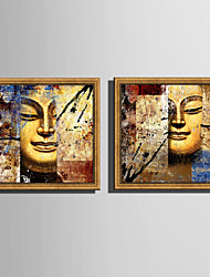 cheap -Framed Canvas Framed Set - Abstract Religious Plastic Illustration Wall Art