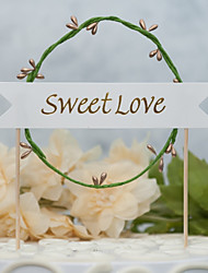cheap -Cake Topper Floral Theme New Handmade / Wedding with Pattern / Print 1 OPP