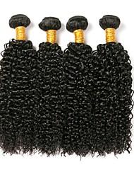cheap -4 Bundles Hair Weaves Brazilian Hair Kinky Curly Human Hair Extensions Remy Human Hair 100% Remy Hair Weave Bundles 400 g Natural Color Hair Weaves / Hair Bulk Human Hair Extensions 8-28 inch Natural