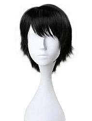 cheap -Cosplay Wigs Men's Women's 30 inch Heat Resistant Fiber Black Anime / Princess Lolita