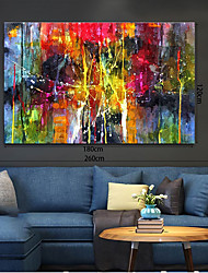 cheap -Oil Painting Handmade Hand Painted Wall Art Home Decoration Décor Living Room Bedroom Abstract Landscape Modern Contemporary Rolled Canvas Rolled Without Frame