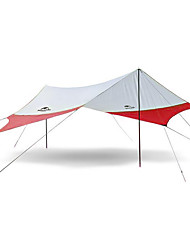 cheap -Naturehike 4 person Camping Shelter Outdoor Rain Waterproof Mountaineering UV Protection Single Layered Poled Camping Tent >3000 mm for Camping / Hiking Terylene 520*460 cm
