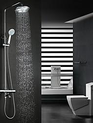 Недорогие -смеситель для душа - современный хромированный настенный керамический клапан / из латуни / с двумя ручками смесители для душа с двумя отверстиями для ванны