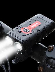 Недорогие -Светодиодная лампа Велосипедные фары Передняя фара для велосипеда LED Велоспорт Велоспорт Водонепроницаемый С быстрой зарядкой 2.0 Перезаряжаемая батарея 1200 lm Встроенная литий-батарея Белый