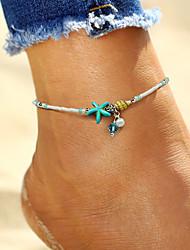 cheap -Anklet feet jewelry Ladies Boho Bohemian Women's Body Jewelry For Holiday Bikini Imitation Pearl Alloy Starfish Shell White