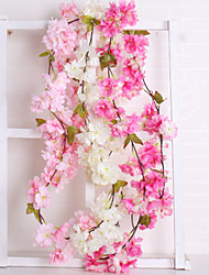 cheap -Artificial Flowers 1 Branch Wedding European Sakura Wall Flower