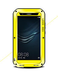 cheap -Case For Huawei Huawei P9 Plus / Huawei P9 Water / Dirt / Shock Proof Full Body Cases Solid Color Hard Metal