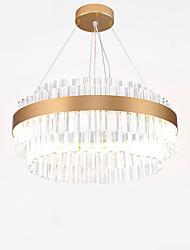 abordables -QIHengZhaoMing Lustre Lumière d'ambiance Plaqué Cristal Cristal, Protection des Yeux 110-120V / 220-240V Blanc Crème Source lumineuse de LED incluse / LED Intégré