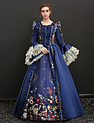 cheap -Queen Victoria Renaissance Dress Outfits Party Costume Masquerade Women's Lace Costume Red / Blue Vintage Cosplay 3/4 Length Sleeve Floor Length Long Length Ball Gown Plus Size Customized