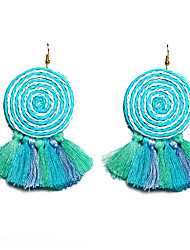 cheap -Women's Drop Earrings Tassel Ladies Bohemian Fashion Boho African Earrings Jewelry Yellow / Pink / Light Blue For Party Masquerade