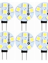 cheap -SENCART 6pcs 1.5 W LED Bi-pin Lights 60-80 lm G4 T 6 LED Beads SMD 5050 Decorative Warm White White 12 V