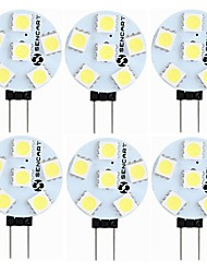 cheap -6pcs 1.5 W LED Bi-pin Lights 60-80 lm G4 T 6 LED Beads SMD 5050 Decorative Warm White White 12 V