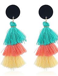 cheap -Women's Drop Earrings Tassel Ladies Tassel Sweet Earrings Jewelry Light Orange / Light Blue / Light Pink For Daily Going out