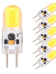 cheap -6pcs 2 W LED Bi-pin Lights 350-380 lm G4 GY6.35 1 LED Beads COB Dimmable Warm White Cold White 12 V