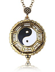 cheap -Men's Pendant Necklace yin yang Natural Fashion Metal Alloy Ancient Bronze Necklace Jewelry One-piece Suit For Evening Party School