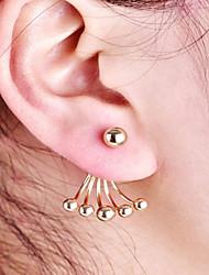 cheap -Women's Stud Earrings Jacket Earrings Ball Ladies Simple Fashion Earrings Jewelry Gold For Daily Work