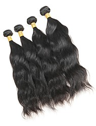 cheap -4 Bundles Malaysian Hair Natural Wave Remy Human Hair Natural Color Hair Weaves / Hair Bulk Human Hair Weaves Human Hair Extensions / 10A