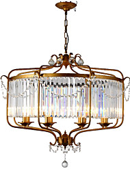 cheap -LightMyself™ 8-Light 85 cm Crystal Chandelier / Pendant Light Metal Crystal Painted Finishes Retro Vintage / Country 110-120V / 220-240V