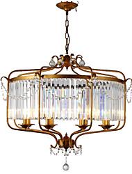 cheap -LightMyself™ 8-Light 85 cm Crystal Chandelier / Pendant Light Metal Crystal Painted Finishes Retro Vintage / Country 110-120V / 220-240V