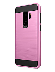 cheap -Case For Samsung Galaxy S9 Plus Shockproof Back Cover Solid Color Hard Plastic