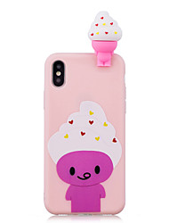 cheap -Case For Apple iPhone XS / iPhone XR / iPhone XS Max Shockproof / Pattern / DIY Back Cover Food / Cartoon / 3D Cartoon Soft TPU