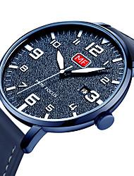 cheap -MINI FOCUS Men's Casual Watch Japanese Quartz Genuine Leather Black / Blue / Brown Calendar / date / day Noctilucent Casual Watch Analog Fashion - Black Brown Green