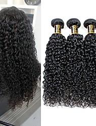 cheap -1 Bundle Brazilian Hair Kinky Curly Human Hair Natural Color Hair Weaves / Hair Bulk Human Hair Weaves Human Hair Extensions / 8A