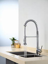 cheap -Kitchen faucet - Single Handle One Hole Chrome Pull-out / ­Pull-down / Standard Spout / Tall / ­High Arc Centerset Contemporary / Antique Kitchen Taps