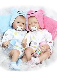 cheap -NPKCOLLECTION NPK DOLL Reborn Doll Girl Doll Baby Girl 22 inch Silicone - Newborn lifelike Cute Child Safe Non Toxic Hand Applied Eyelashes Kid's Unisex / Girls' Toy Gift