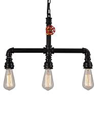 Недорогие -винтажные промышленные трубы подвесные светильники творческие огни ресторан кафе-бар с 3-светлой отделкой
