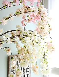 cheap -Artificial Flowers 1 Branch Wedding European Style Sakura Wall Flower