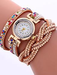 Недорогие -Жен. Имитационная Четырехугольник Часы Часы-браслет Модные часы Китайский Кварцевый Имитация Алмазный PU Группа На каждый день Мода