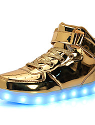 cheap -Girls USB Charging  LED / LED Shoes PU Sneakers Little Kids(4-7ys) / Big Kids(7years +) LED Gold / Silver Fall