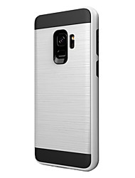 cheap -Case For Samsung Galaxy S9 Shockproof Back Cover Solid Color Hard Plastic