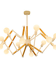 cheap -12 Bulbs LightMyself™ 110 cm Chandelier Metal Wood / Bamboo Painted Finishes Artistic / Chic & Modern 110-120V / 220-240V